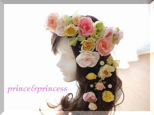 花冠セット*ピンクグリーン*
