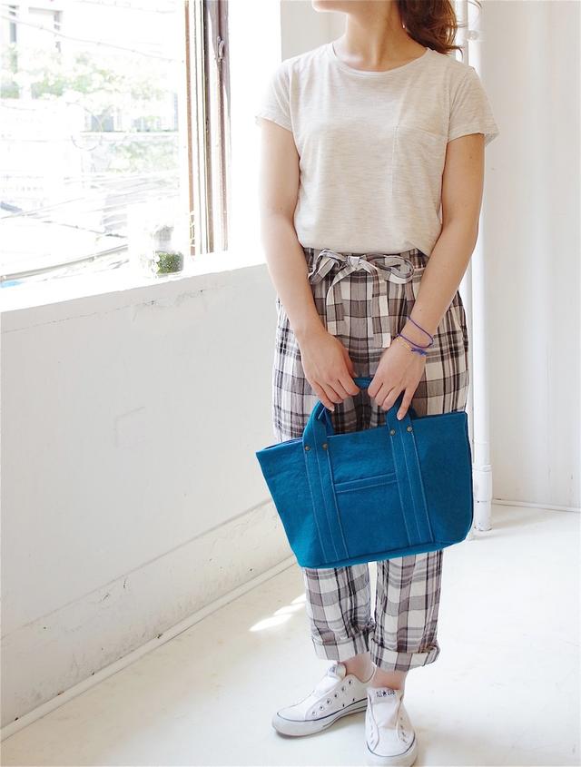 """倉敷帆布のミニトート """"Rich blue"""""""