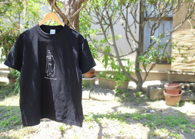 マレーグマさんメンズTシャツ(ブラック)