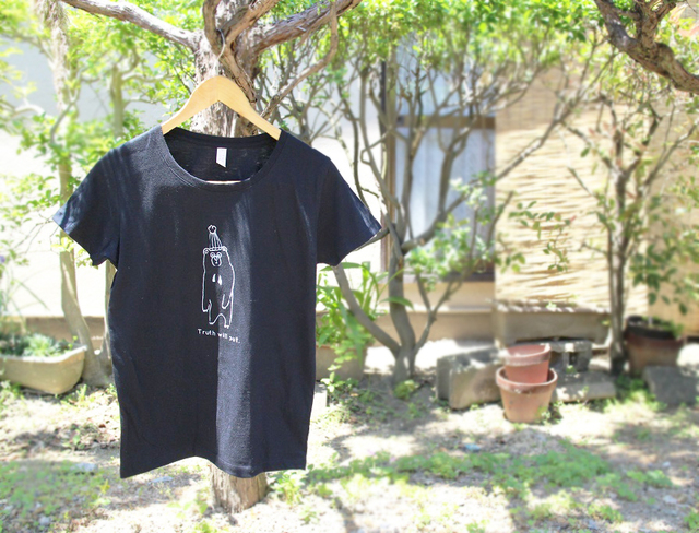 マレーグマさんレディースTシャツ(ブラック)
