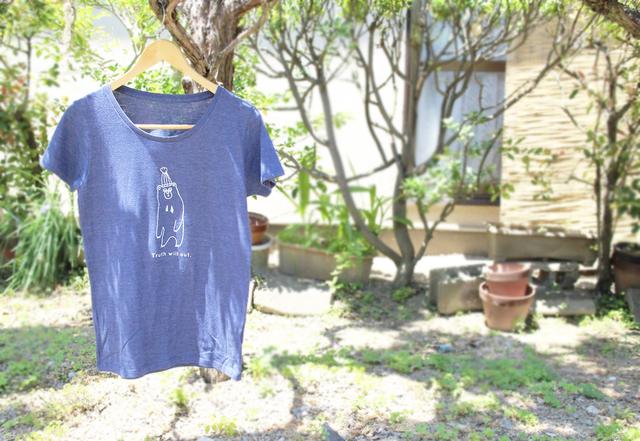 マレーグマさんレディースTシャツ(ヘザーネイビー)