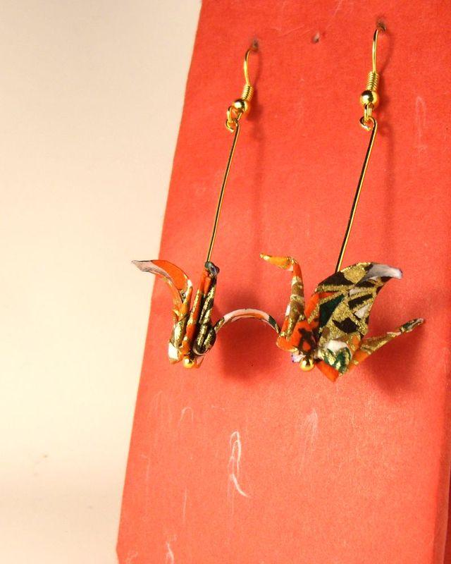 オリガミピアス鶴(Tsuru 03T2IDr)