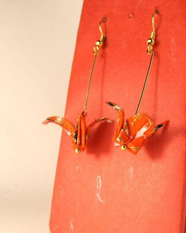 オリガミピアス鶴(Tsuru 04T2IDr)