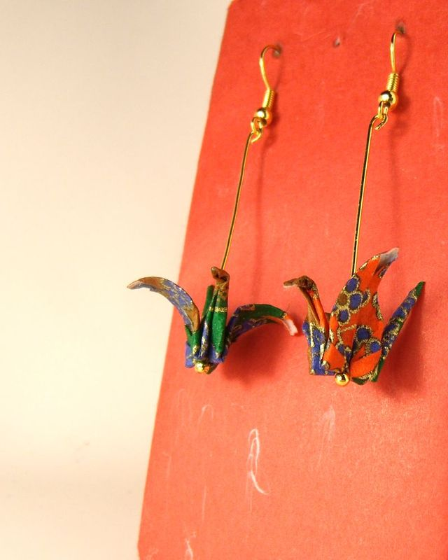 オリガミピアス鶴(Tsuru 06T2IDr)