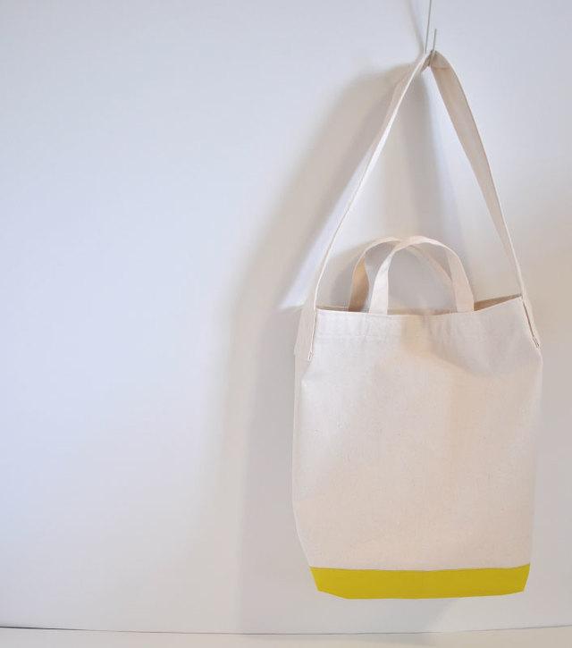 配色カラー 帆布2wayバッグ