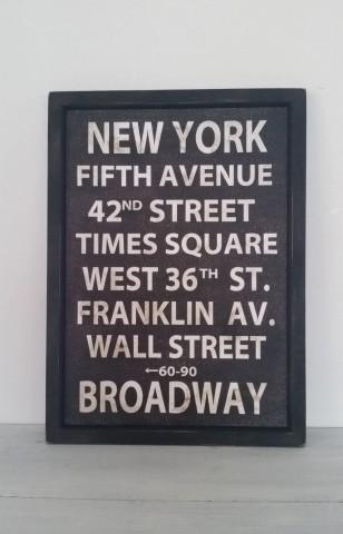 サインフレーム*ビンテージ*NEW YORK