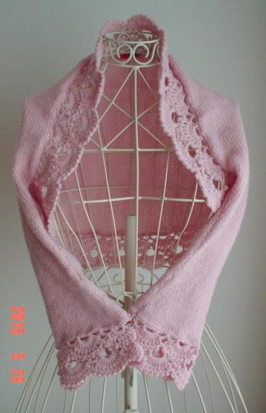 ☆彡pink色のクロッシェ・レース飾りのマーガレット☆彡