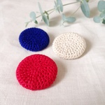 """TRICOLORE"" brooch set"