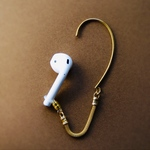 AirPods イヤーフック(SWING GOLD)☆AirPods 落下防止☆