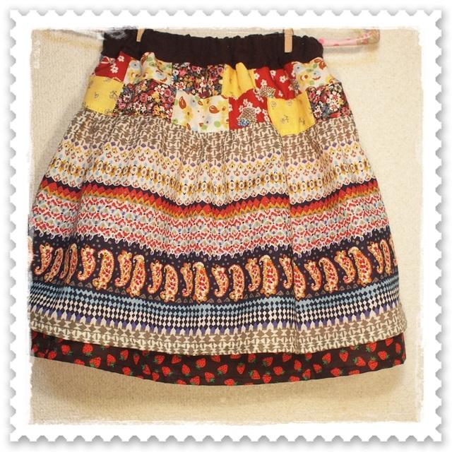 送料0! こどもスカート*size100〜130 mix。*