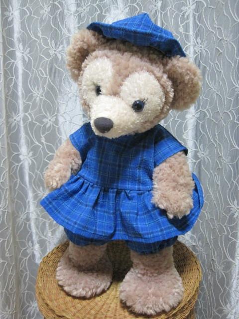 ☆シェリー☆ワンピース&パンツ&帽子☆紺×黒チェック柄☆