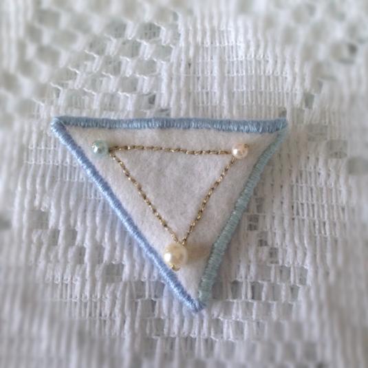 冬の大三角ブローチ