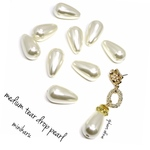 10pcs)medium tear drop beads