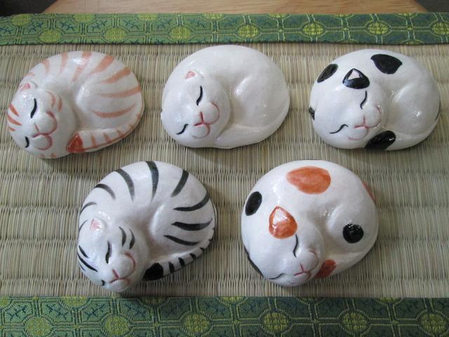 猫いろいろ箸置き(5個セット)