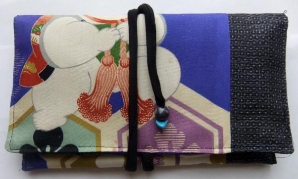 着物リメイク 男の子の四つ身で作った和風財布 202
