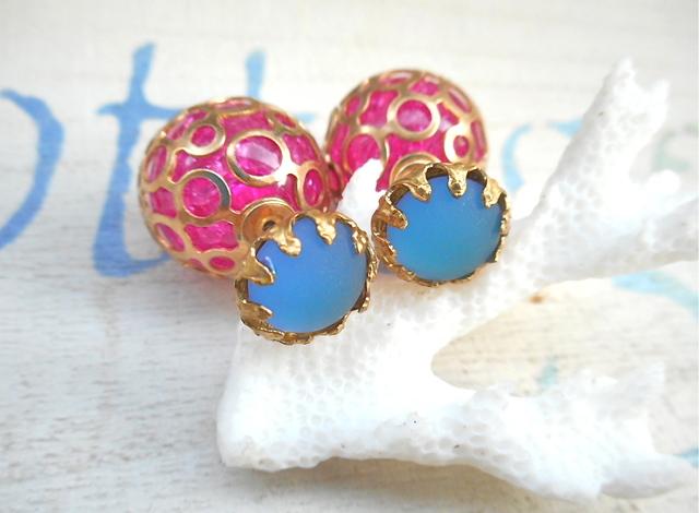 Exotic Ocean Bubble Earrings 2WAY