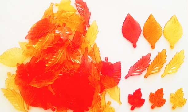 秋色紅葉葉っぱアソートセット 20個