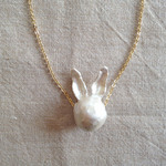 Animal Pearl Necklace / Rabbit