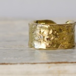 Star open ring(brass)