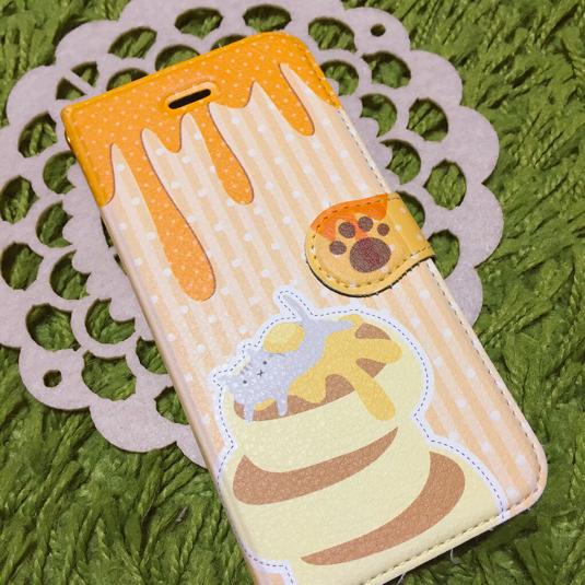 【iPhone6】ホットケーキの手帳型iPhoneケース