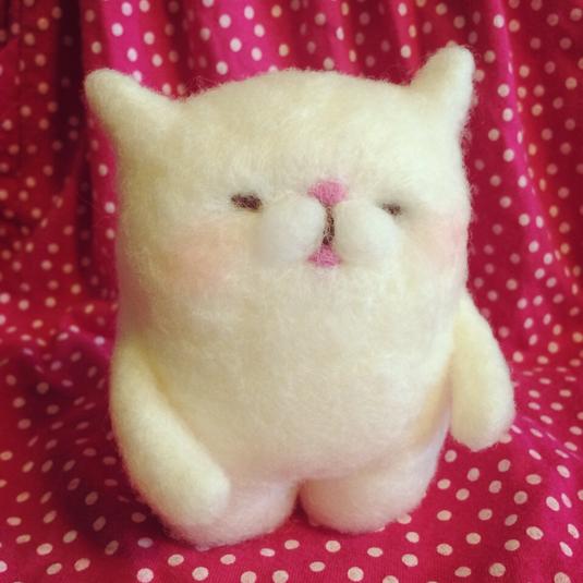 羊毛猫さん人形(大きいほう)再販