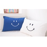 SMILE YES/NO PILLOW CASE<NAVY>