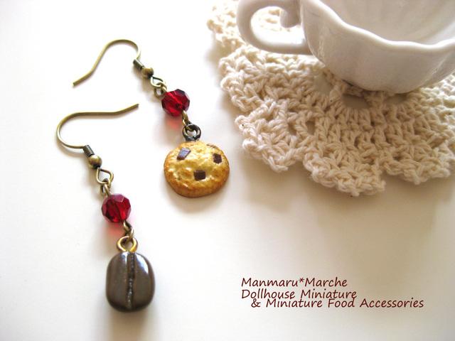 ★再再販★チョコチップクッキー&コーヒー豆のピアス