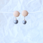 kawara pierce & earrings* -leather-