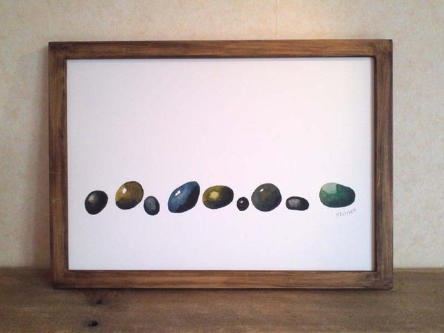 ゆる絵 stones A4 + 額