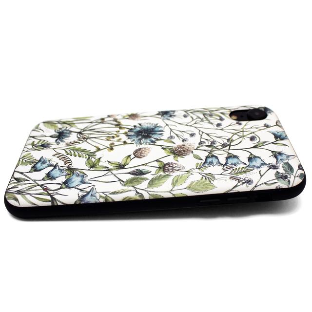2d48965d3d iphoneXRケース / iphoneXRカバー 軽量レザーケース アイフォンXRカバー(花柄×ブラック