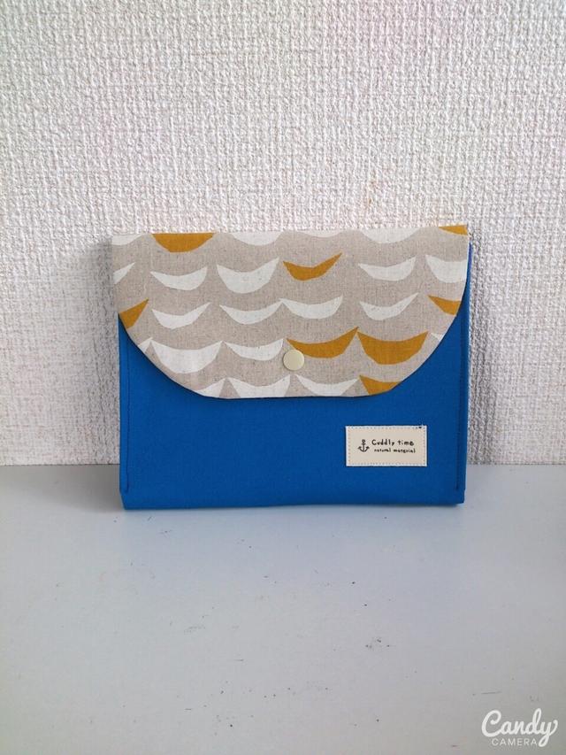 ナミノリ×ブルー母子手帳ケースマルチケース