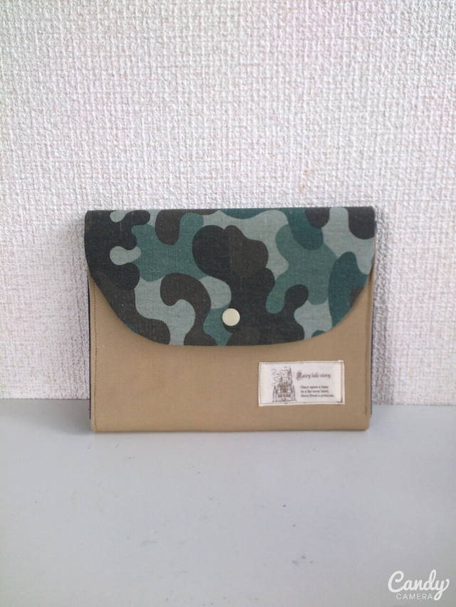 迷彩×帆布母子手帳ケースマルチケース