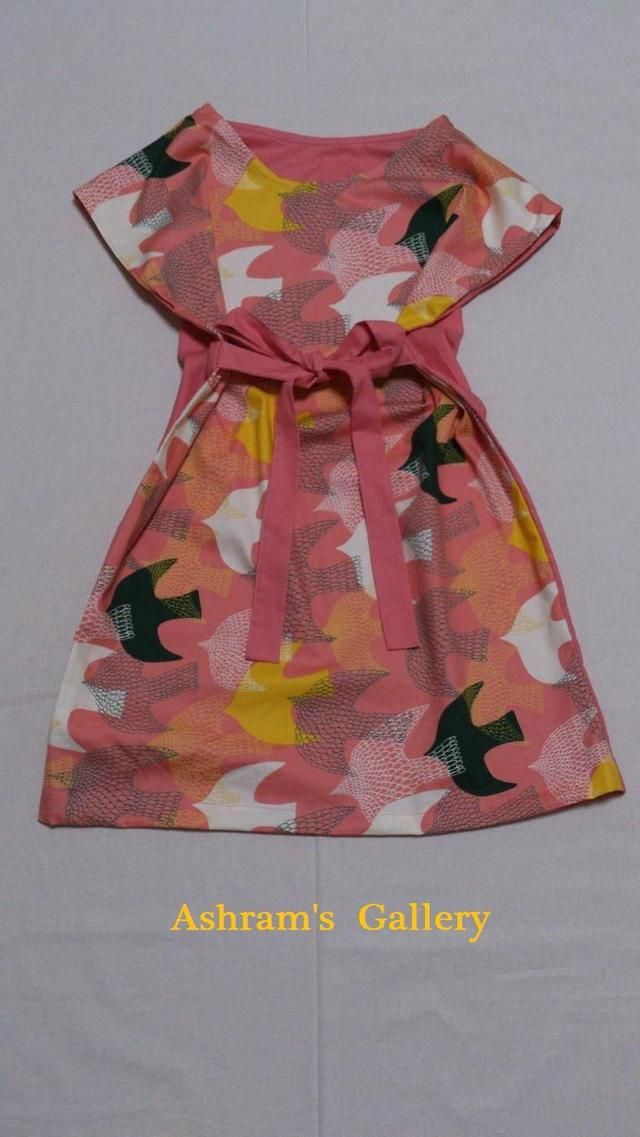 simple*TunicOnePiece:The Birds〜pink〜(M)