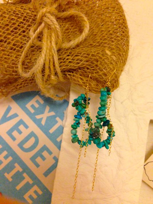 ピアス*turquoise stone