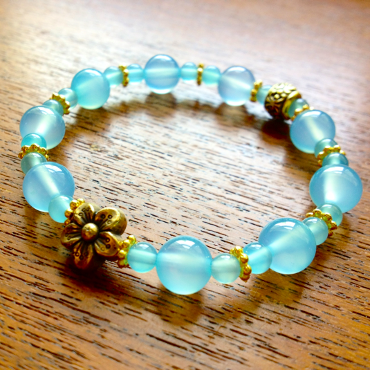 sea  blue  chalcedony/Design by  antie