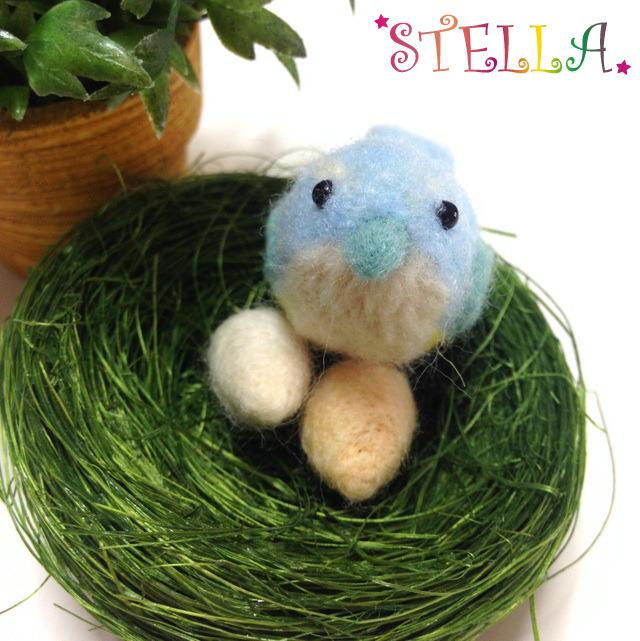 ☆青い鳥・鳥の巣&たまご付き☆マスコット