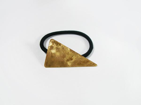 (再販)二等辺三角形の真鍮製ヘアゴム