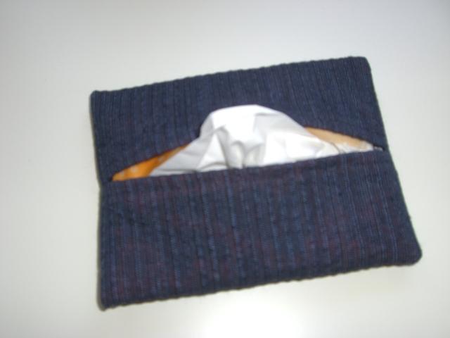 しじら織り風 ポケットティッシュカバー