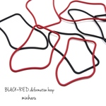 8pcs) BLACK×RED deformation hoop set