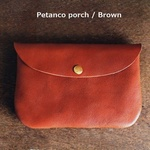 ■【 牛革のcoinpurse pocket 】ブラウンBrown