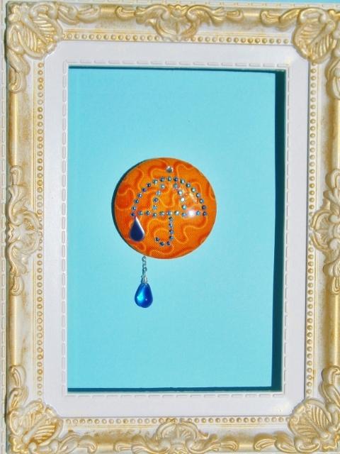 傘と雨だれブローチ  「サマコレ」