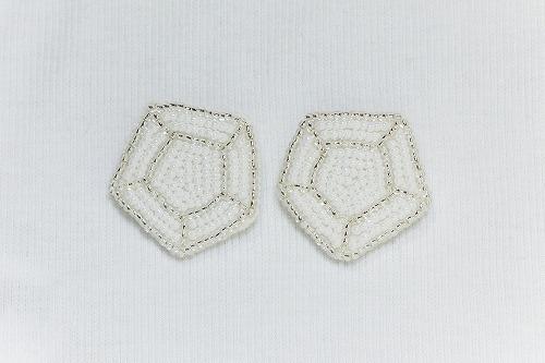 キラキラ宝石ブローチ silver
