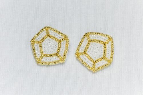 キラキラ宝石ブローチ gold