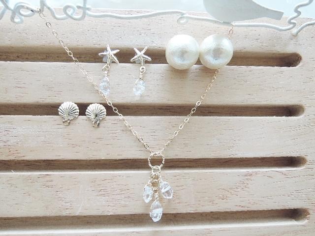 ☆高品質NY産ハーキマーダイヤモンド☆ピアス&ネックレス 数に限りがございます?。(768)