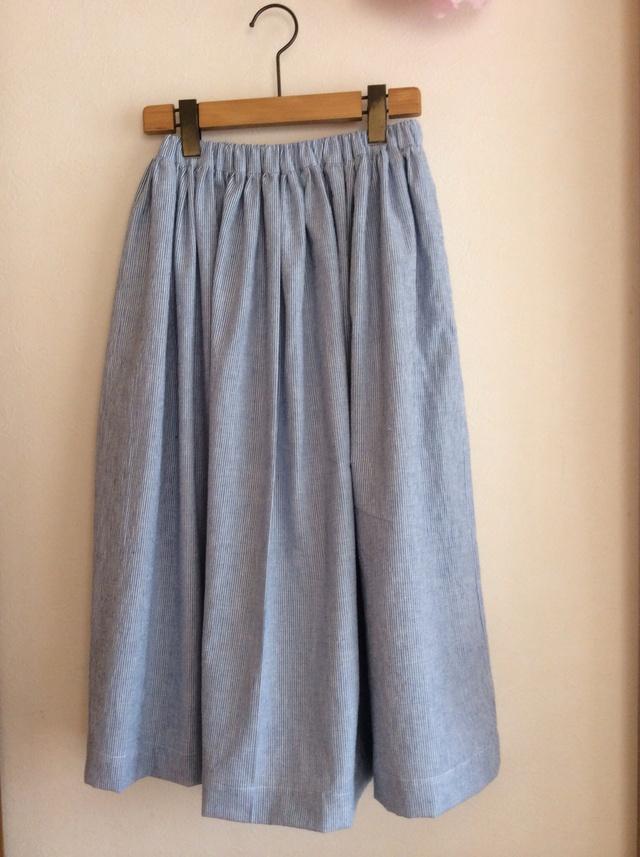 シンプルなロングギャザースカート for women