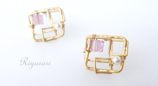 Amethyst‐Square pierce