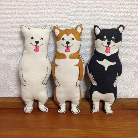 柴ちゃん! sibainu ヌイグルミ(白・赤・黒)からお選び下さい