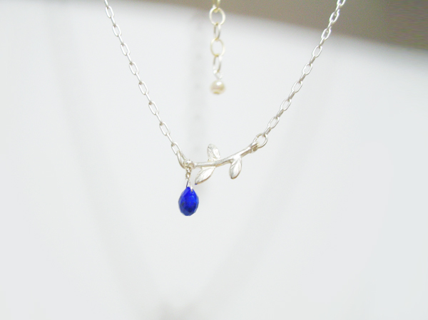 (再販)マロンカット天然石のネックレス