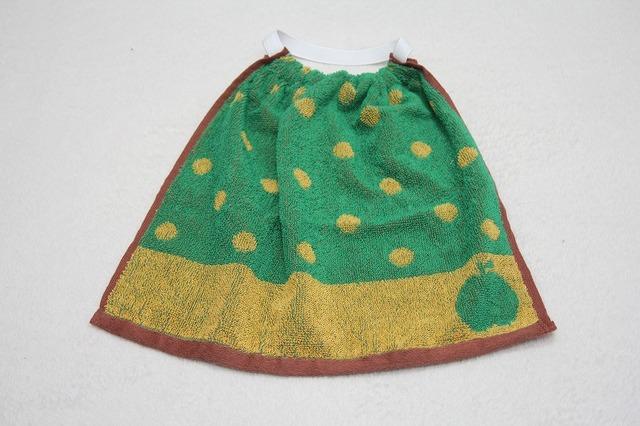タオルエプロン りんご(緑×黄)