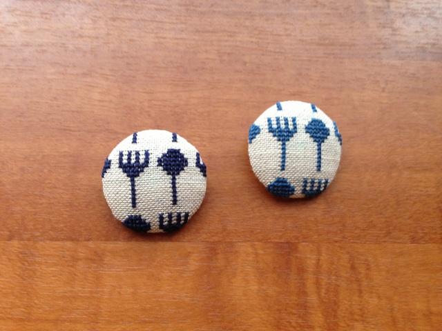 刺繍ミニブローチ  スプーンとフォーク